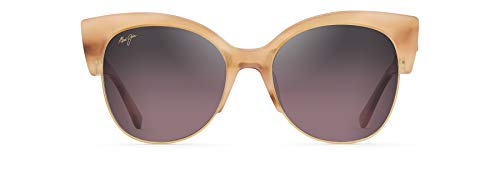 Maui Jim Mariposa - Gafas de sol para mujer, Rosa (Coral con oro rosa/Maui Rose polarizado), Large