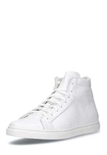 HAMLET VITO all Year Weiss Vitello Bianco knöchelhoher Sneaker aus edlem Kalbsleder Made in Italy D 41 / UK 7