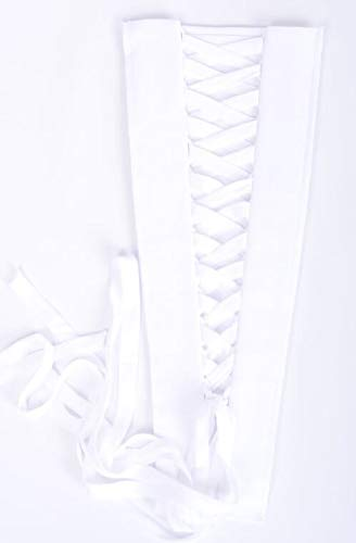 Corset Kit Zipper Replacement for Wedding and Bridal Gown for Easy Alteration Lace-Up to Make Dress Bigger and Fit Better (White Chiffon)
