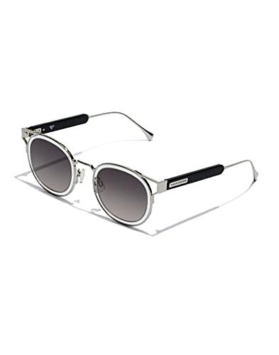 HAWKERS Pierre GASLY X Sauvage Gafas de Sol, Negro/Plata, Adulto Unisex Adulto