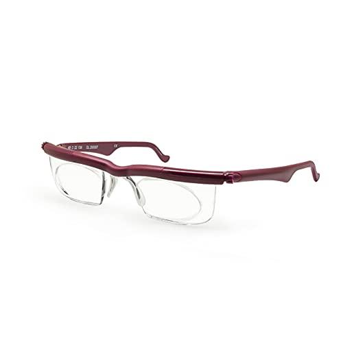 Focus Adjustable Eyeglasses Adlens Lens -4D to +5D Myopia Magnifying Reading Glasses Variable
