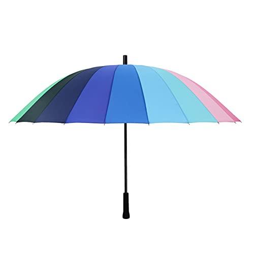 145211521 Moda Grande 24 Colorido Paraguas Grande a Prueba de Viento a Prueba de Viento para niña Viajes al Aire Libre