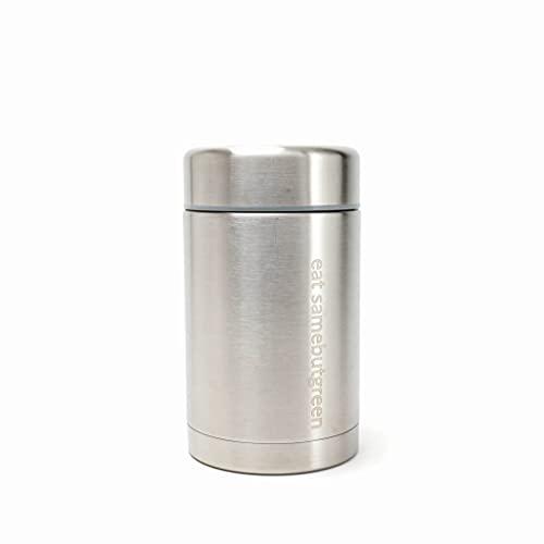 samebutgreen Edelstahl Thermobehälter doppelwandig isoliert - hält dicht, warm & kalt - Auslaufsicher & Plastikfrei - 500ml