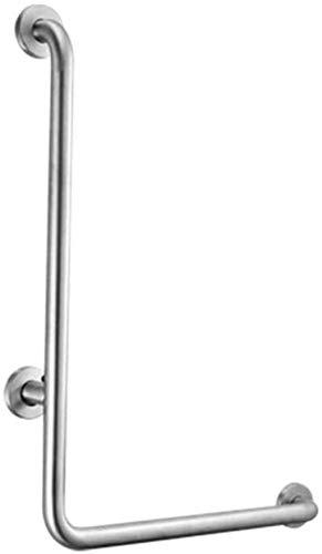 Empuñadura de mango de baño L en forma de barras de apoyo bañeras y baño, cromo pulido en ángulo sujeción de seguridad, barra de apoyo del carril de movilidad mayores de montaje en pared Duchas Herram