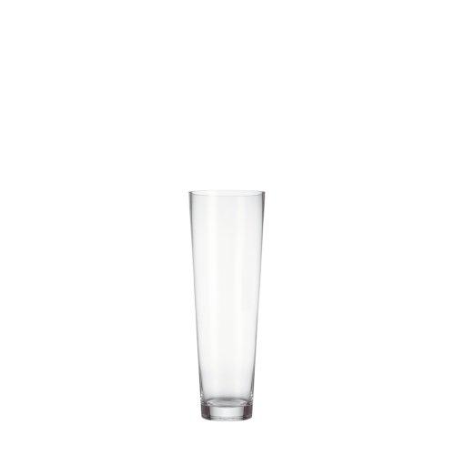 Leonardo Konische Vase, Höhe 50 cm, Durchmesser 17 cm, Klarglas mit massivem Eisboden, 029556