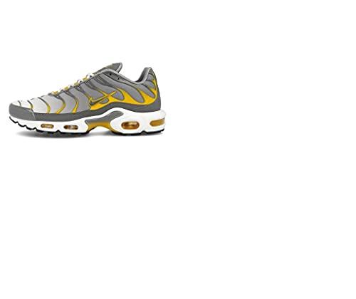 Nike Uomini Tuned 1 Air Max Plus - DD7111 001 - Particle Grigio Giallo, Grigio (Grigio), 42.5 EU