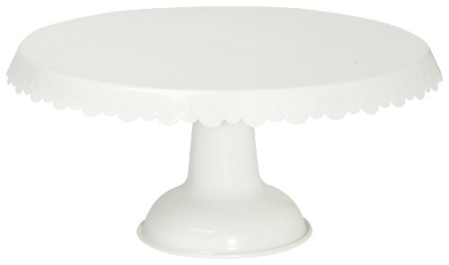 Now Designs Tin Cake Stand, White
