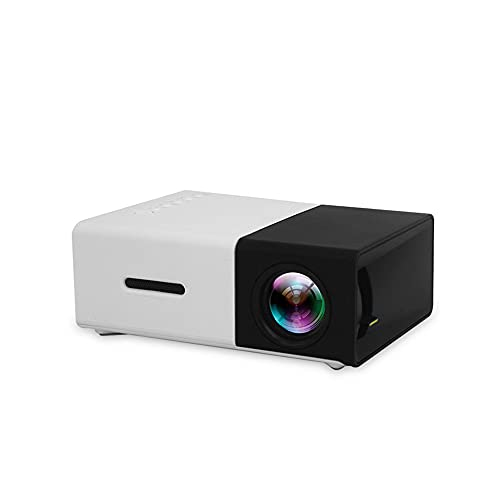 Mini Proyector Portátil , Cine en Casa ProyectorSoporta Full HD 1080P, 30000 Horas Mobile Projector LED,Soporte TV Stick/HDMI/VGA/USB/TF/AV
