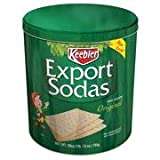 Keebler Export Sodas Crackers, 28 oz (Pack of 4)