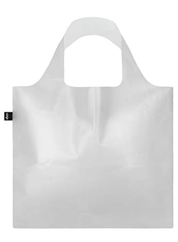 LOQI TRANSPARENT Milky Bag - Borsa da viaggio, 50 cm, colore: Trasparente Milky