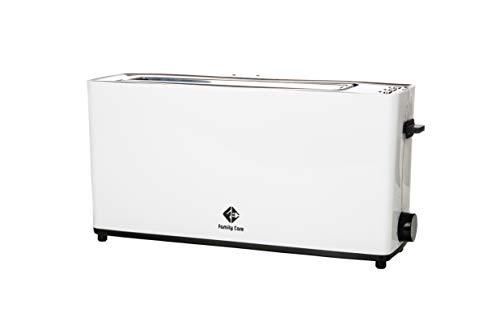 Family Care Tostadora de ranura larga, potencia de 900 W, apta para cualquier tipo de pan, con Función cancelar y Función descongelador, con 7 niveles de tueste