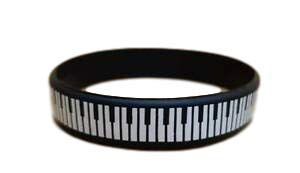 fat-catz-copy-catz Silikon Gummi Armband Piano Musik Schlüssel Rockabilly Rock N Roll Herren Damen