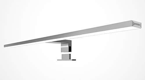 LED Badleuchte 600mm Badlampe Spiegellampe 230V Spiegelleuchte Aluminium, Lichtfarbe:warmweiß