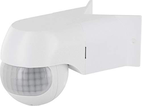 Aufputz Slim Infrarot Aussen Bewegungsmelder IP44 200° 230V - Eckmontage - mit Dämmerungssensor - LED geeignet ab 1W