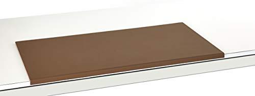 Luxentury Schreibtischunterlage Schreibunterlage Leder Kantenschutz: 80x40 cm Echtleder abgewinkelt Auflage braun rutschfest für Büro, UBO800400