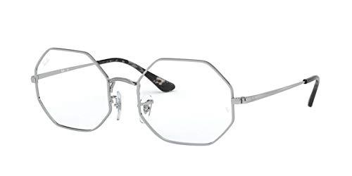 Ray-Ban メンズ Rx1972v 八角形メタル眼鏡フレーム 八角形処方メガネフレーム US サイズ: 54 mm カラー: シルバー