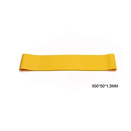 YUELANG Venda De La Resistencia De La Goma del Equipo De La Aptitud Ejercicio Deportes De La Goma del Anillo De Goma De Látex Yoga Training Fuerza Elásticos (Color : Yellow 500x50x1.3MM)