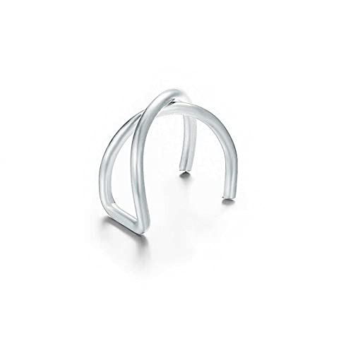 zongshengshop Modeschmuck Mode Gold Blatt Clip Ohrring für Frauen ohne Piercing Puck Rock Vintage Kristall Ohr Manschette Mädchen Jewerly Geschenke High-End-Ohrringe (Metal Color : 11)
