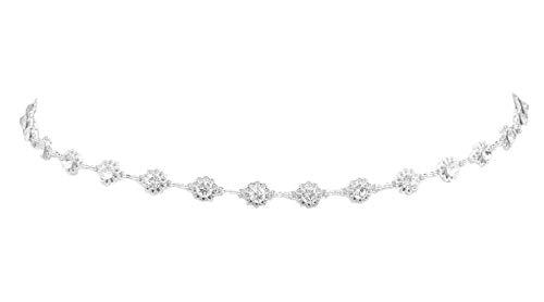 Lolita Damen Gürtel Kette mit Strass Stein Diamant Gürtelkette Gold Silber ZSP-17807 (Silber)