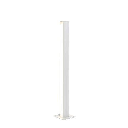 QAZQA Moderne staande buitenlamp aluminium 70 cm IP44 - Laurel Aluminium Cilinder LED inbegrepen Max. 2 x 12 Watt