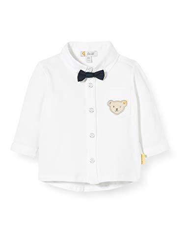 Steiff Jungen Langarm Hemd, Weiß (Bright White 1000), (Herstellergröße:86)