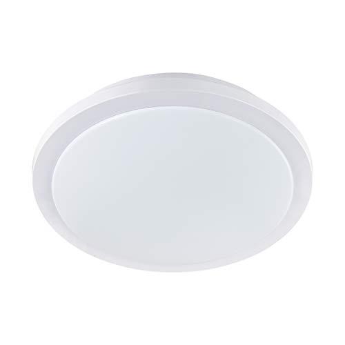 EGLO LED Badezimmer-Deckenlampe Competa 1-ST, 1 flammige Deckenleuchte, Material: Stahl, Kunststoff, Farbe: weiß, Ø: 40 cm, dimmbar, weißtöne einstellbar, IP44, Wandleuchte