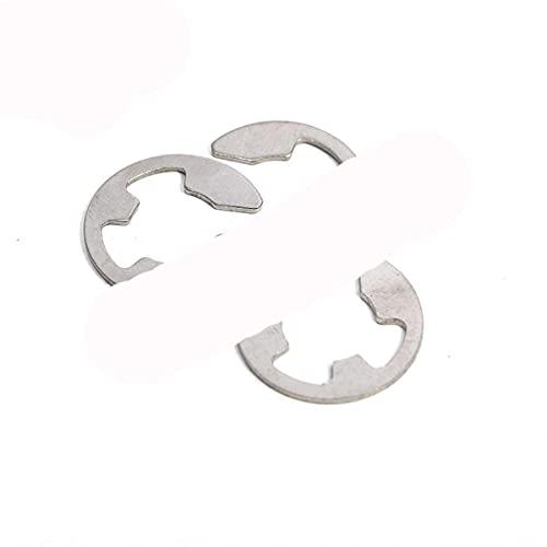 100 piezas GB896 M2.5 M3 M4 M5 M6 M7 M8 304 retenedor de saco de anillo de seguridad de acero inoxidable E-tipo E arandelas divididas en forma de hebilla-M8
