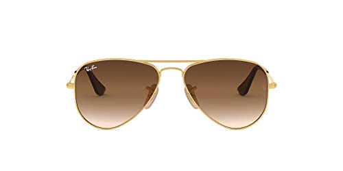 Ray-Ban Unisex-Kinder 9506s Sonnenbrille, Gold (Gold/Brown Gradient), 50