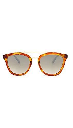 QUAY Australia Sweet Dreams Orange Tortoise w/Silver Flash Sunglasses