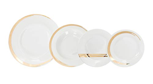 Tognana Servizio tavola 18 Pezzi Saten, Porcellana, Oro