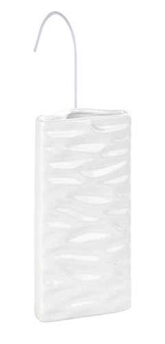 WENKO Humidificador Olas - Humidificador de ambiente con estructura de ondas para radiadores acanalados, Cerámica, 9 x 19 x 4 cm, Blanco