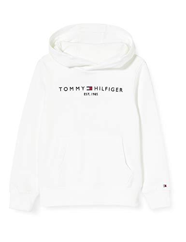 Tommy Hilfiger Jungen Essential Hoodie Kapuzenpullover, Weiß (White 658-170 Ybr), Jahre (Herstellergröße: 14)