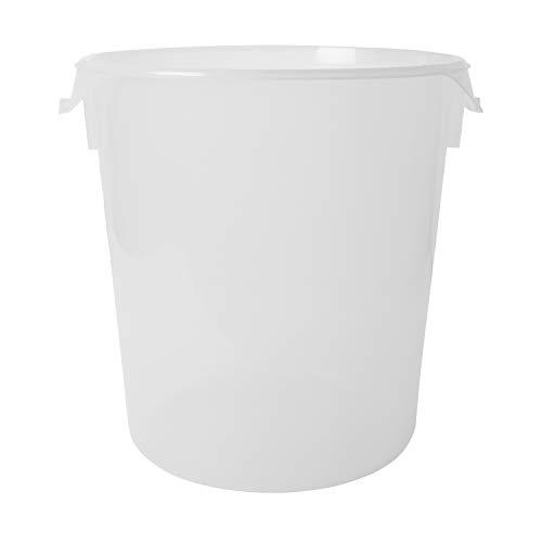 Rubbermaid Commercial Products Plastic Round Food Storage Container for Kitchen/Food Prep/Storing, 22 Quart, Clear, Container Only (FG572824CLR)