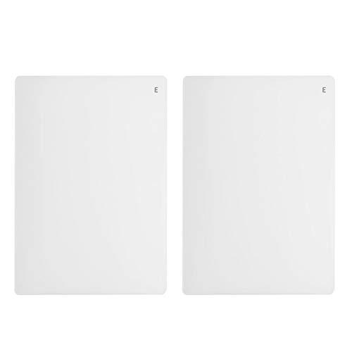 Vaessen Creative 2137-065 Cut ˈEm Easy Platte E, Set mit 2 Prägeplatten, Ersatzplatten zum Prägen mit der A5 Large Stanz-und Prägemaschine, transparent
