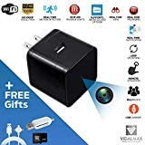 USB Spy Camera Wireless Hidden with Real Time Motion Detection – USB Hidden Camera Wall Charger- Spy Cam with Night Vision – USB Charger Spy Cam with 1080P Video Recording – Works With or Without WiFi