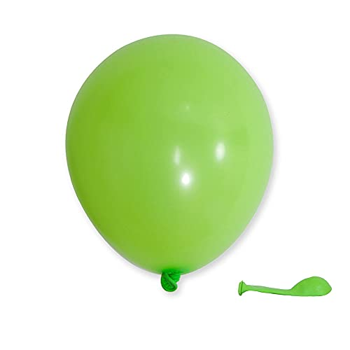 KALOR 100 Pack 5 Inch Green Matte Latex Balloons Helium Balloons for Birthday Party Wedding Party Baby Shower Decoration Supplies(Light Green)