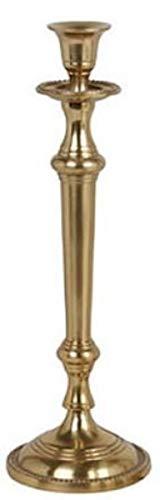Casa Padrino Jugendstil Kerzenständer Antik Messingfarben H. 35 cm - Runder Aluminium Kerzenhalter...