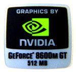 VATH Sticker Compatible with NVIDIA GEFORCE 8600m GT 512mb 18 x 18mm [234]