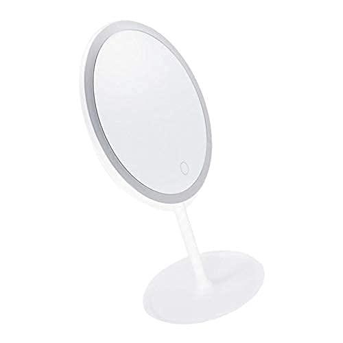 Pkfinrd Maquillaje Espejo Maquillaje Espejo Maquillaje Espejo de pie Espejo de Mesa con luz led, para Mujeres