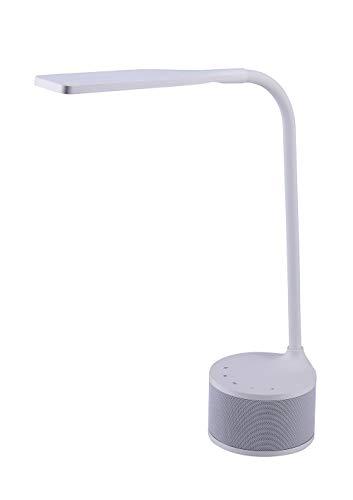 Bostitch Office VLED1817WHITE-BOS Bluetooth Speaker LED Desk Lamp, White