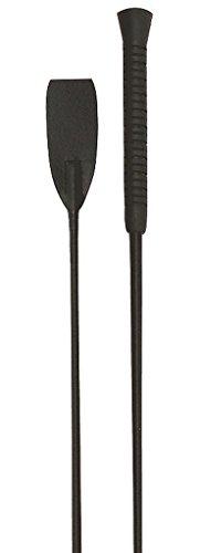 Equipage Gerte Reitgerte mit Klatsche und Gummigriff, schwarz Springstock 65 cm