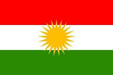 Yantec Kurdistan Flagge 90 * 150 cm