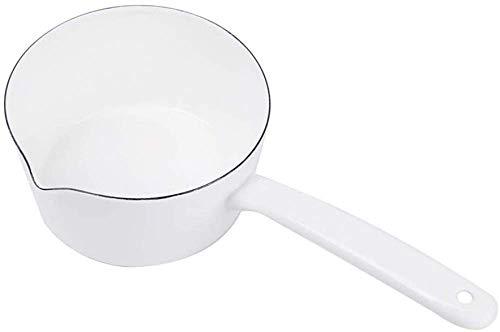 Cacerola de Esmalte Retro Salsa Sopa de Salsa Sartén de Leche Diámetro 15 cm Olla de Cocina para café, Mantequilla, Leche, té, Huevo