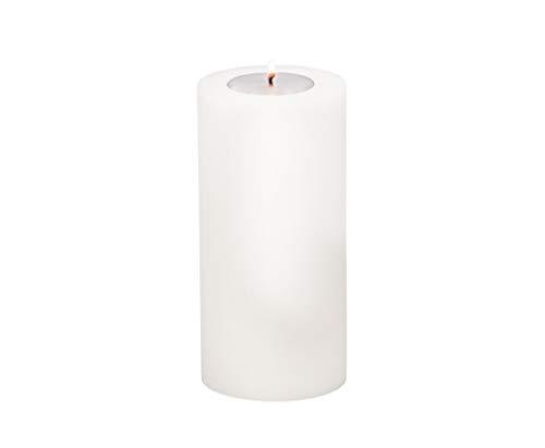 EDZARD Teelichthalter Teelichtkerze Dauerkerze Cornelius, Höhe 21 cm, Durchmesser 10 cm, geeignet für handelsübliche Maxi-Teelichter, hitzebeständig bis 90 Grad