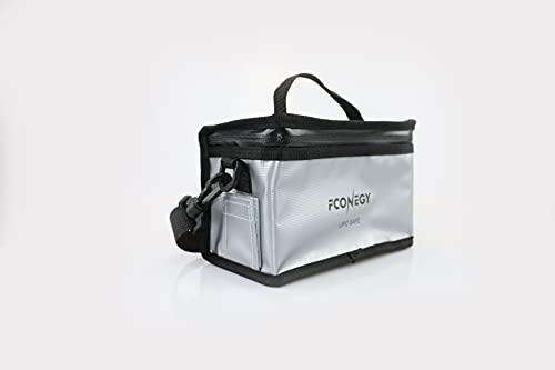 FCONEGY Bolsa de seguridad para batería de polímero de litio, resistente al fuego, protección contra explosiones, portátil, doble cremallera, funda protectora (23,5 x 21 x 17,5 cm, 11 x 9 x 9,5 cm)