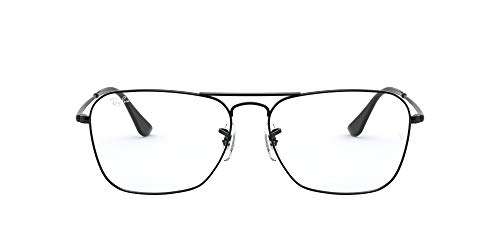 Ray-Ban VISTA Unisex adulto 0RX6536 Gafas, (Glänzendes Schwarz/Demo-linse), 58
