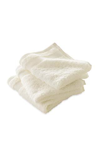 hessnatur Frottee-Waschtuch im 3er-Pack aus Reiner Bio-Baumwolle Natur 30x30 cm