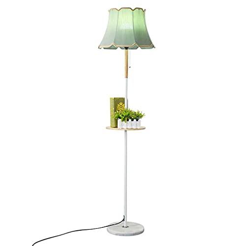 zdz Verde de Metal DIRIGIÓ Lámpara de pie, Control Remoto 9W Brillante Moderno Vigilante de la luz de la luz del Piso Alto, para el Dormitorio, la Sala de Estar (Color : Green, Power : 9w)