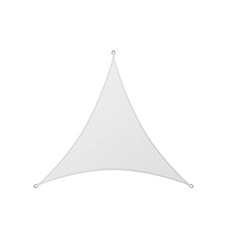 Sun Shade Sail,Water Resistant Triangle Sun Sail Awning Made of High-Grade Polyester, 98% UV Block Garden Patio Canopy with Free Ropes,White,2x2x2m