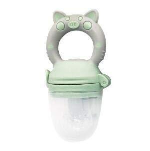 kangzhiyuan Alimentador de bebé Alimentador de bebé Niños Niñas Fruta Pezón Alimentación Productos para bebés Bebés Botella de pezón Alimentador de bebé (Color: Cerdo verde S)